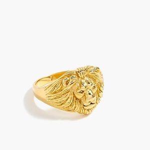 J. Crew Demi-Fine Lion Ring 🦁